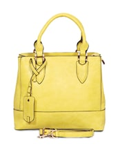 Yellow Pu Hand Bag - By