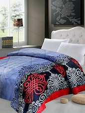 Stone Blue Printed Double Quilt - By
