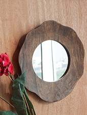 Multicolored Mango Wood And Glass Wall Mirror - By - 9605156