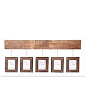 Brown Mango Wood And MDF Hanging Frames (Set Of 5) - By