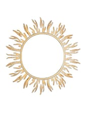 Gold Iron Sun Wall Mirror - By