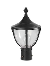 Black Aluminium Outdoor Gate Lamp - By