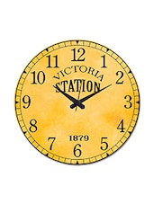 Brown Printed Vintage Victoria Wall Clock - By