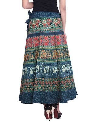 4baff7a569 multicolored printed cotton wrap around skirt - 9617168 - Standard Image -  3 ...