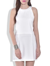 White Sleeveless Cut Out Dress - By