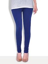 Premium  Solid Royal Blue Cotton Lycra Legging - By