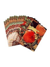 Set Of 20 Multicolored Printed Paper Napkins - By