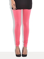 Pink Cotton Leggings - By