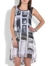 Grey Sleeveless High Low Dress - By