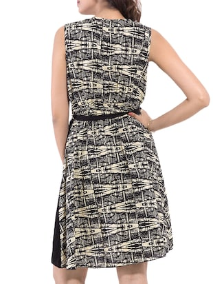 Black Printed Dress - 9668584 - Standard Image - 3