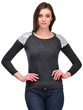 Charcoal Grey Round Neck Pullover - By