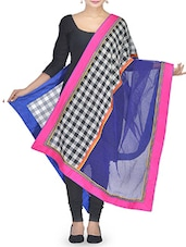 Multicoloured Patchworked Cotton Dupatta - By