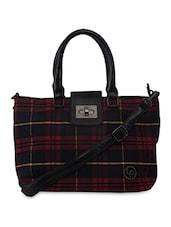 Red Checkered Handbag - By