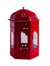 Anasa Decorative Metal Cage Lantern Hanging Tealight Candle Holder Red 6.5 Inch - By