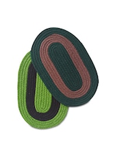 Set Of 2 Oval Cotton Doormats - By