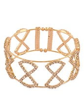Gold Stone Embellished Cuff - By - 9720467