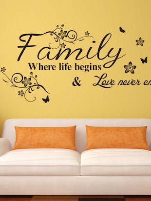 Wall Decals Wall Quote Family Where Life Begins - 9725187 - Standard Image - 3