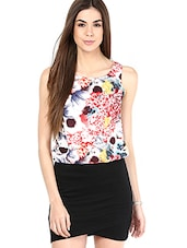 Multicoloured Printed Sleeveless Dress - By