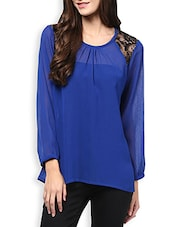 Blue Lace Detailed Top - By