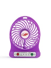 Portable Mini USB Fan Rechargeable Battery Operated With 3 Speed(Purple) - By