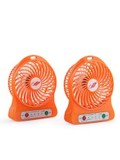 Portable Mini USB Fan Rechargeable Battery Operated With 3 Speed Pack Of 2 - By - 9742631