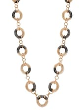 Intertwined Black & Gold Chain Necklace - By