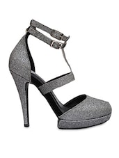 silver Faux Leather sandals -  online shopping for sandals