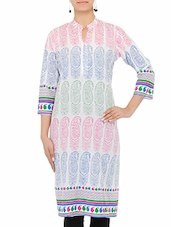 Multi Coloured Printed Kurta For Women - By
