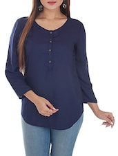 Round Neck Rayon Top - By