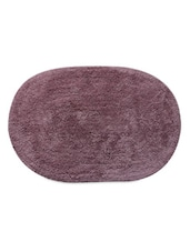 Violet Color Oval Cotton Bathmat -  online shopping for bath mats
