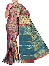 Multicolor Kanchipuram Art Silk  Saree - By - 9807458