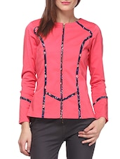 Pink Cotton Jacket - By