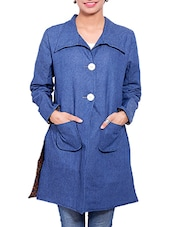 Blue Denim Winter Coat - By