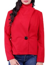Red Wool Winter Coat - By