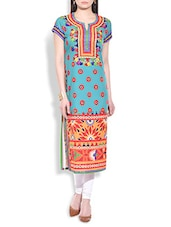 Multi Color Crepe Long Kurta - By