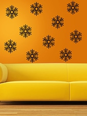 MeSleep Snowflakes Wall Sticker- Pack Of 10 - By