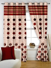 Story @ Home Red Polyester Window Curtains - By