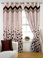 Story @ Home Brown Polyester Window Curtains - By
