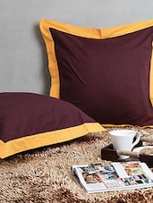 Dekor World Cotton Big Cushion Cover (Pack Of 2 Pcs) - By