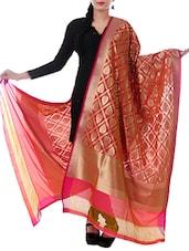 Multicolor Silk Zari Work Dupatta - By