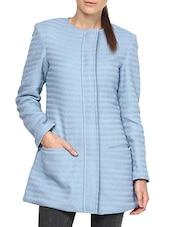 Blue Cotton Blend Coat - By