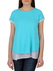 Blue Cotton Jersey Top - By