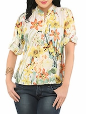 Multi Colour Chiffon Printed Top - By
