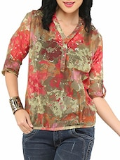 Multi Colour Rayon Printed Top - By